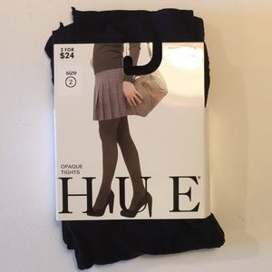 HUE Opaque Tights NWT